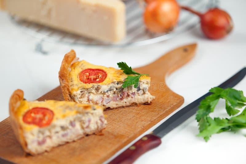 法国洛林乳蛋饼 库存照片