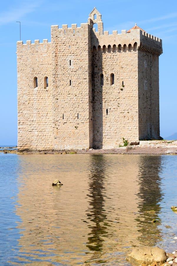 法国海岛lerins里维埃拉 免版税库存照片