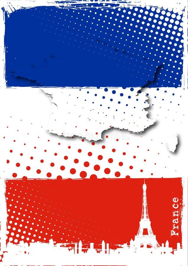 法国海报 皇族释放例证
