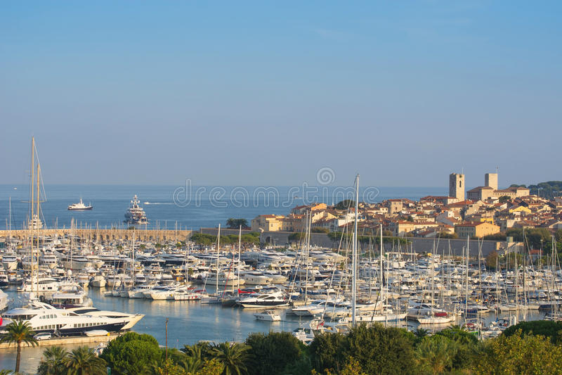 法国海滨的安地比斯 免版税库存照片