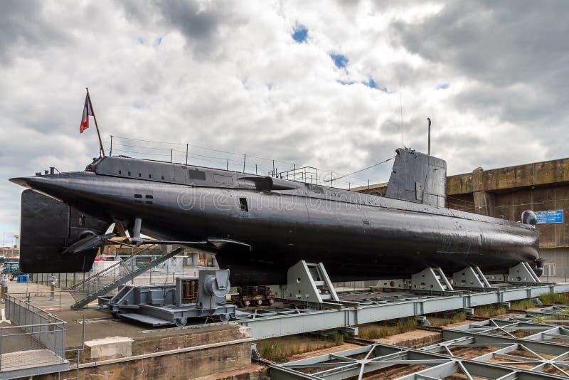 法国潜水艇在洛里昂 免版税库存照片