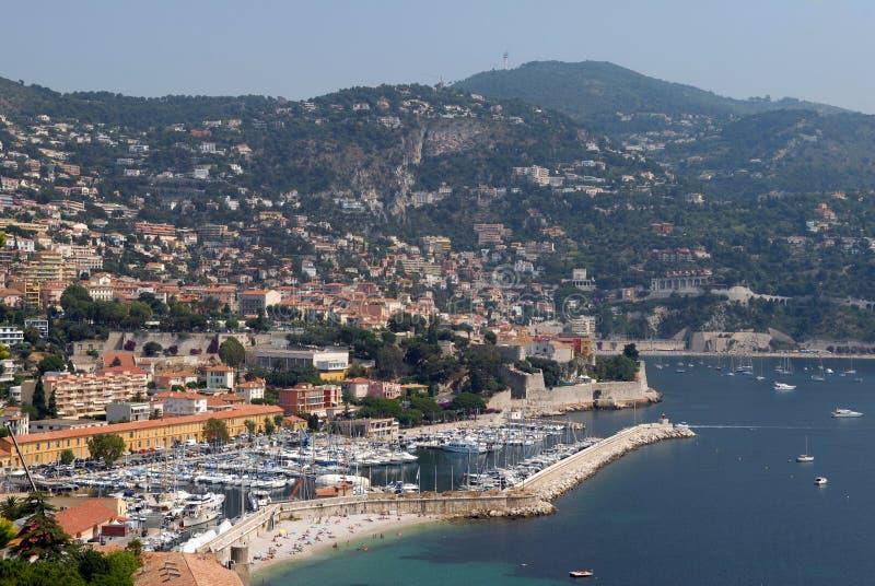 法国的南部的滨海自由城 免版税图库摄影