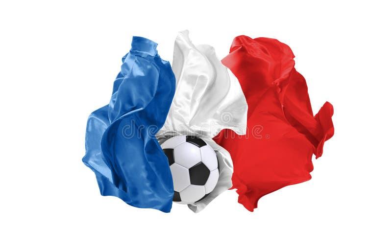 法国的国旗 世界杯足球赛 俄罗斯2018年 库存图片