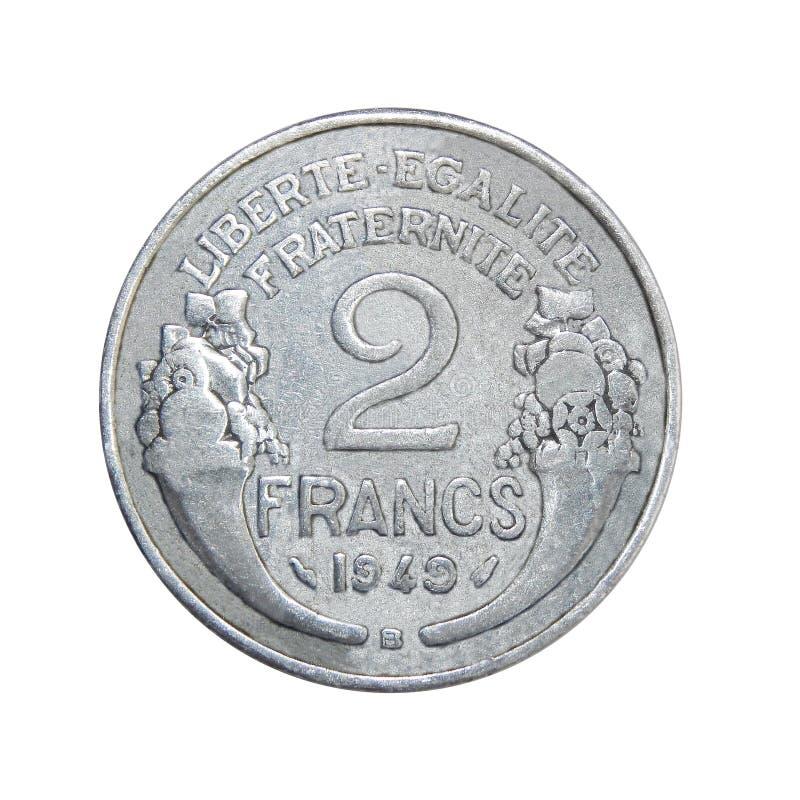 法国的硬币2法郎 免版税库存图片