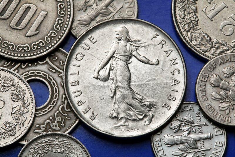 法国的硬币 免版税库存照片