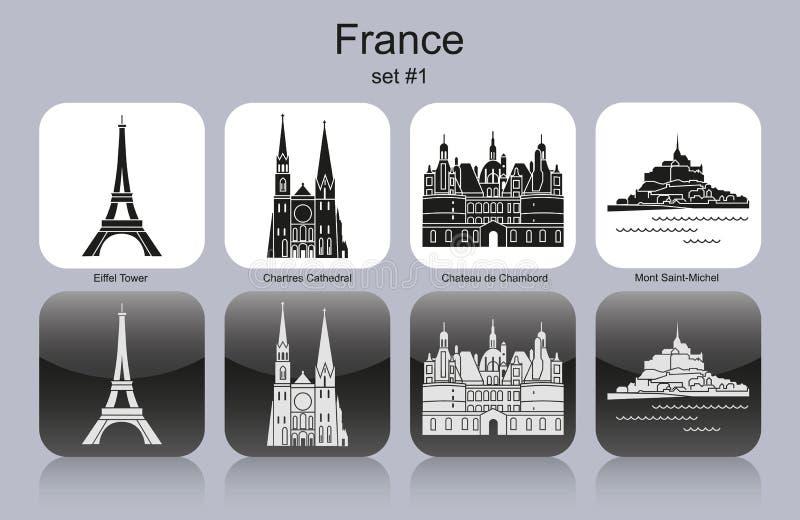 法国的象 向量例证