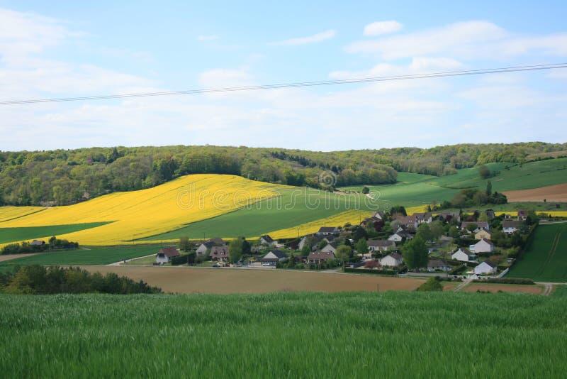 法国的风景:Bionval,诺曼底 免版税库存图片