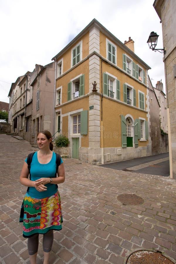 法国矮小的个老村庄 图库摄影