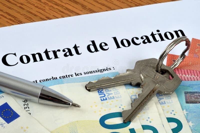 法国租赁协议 向量例证