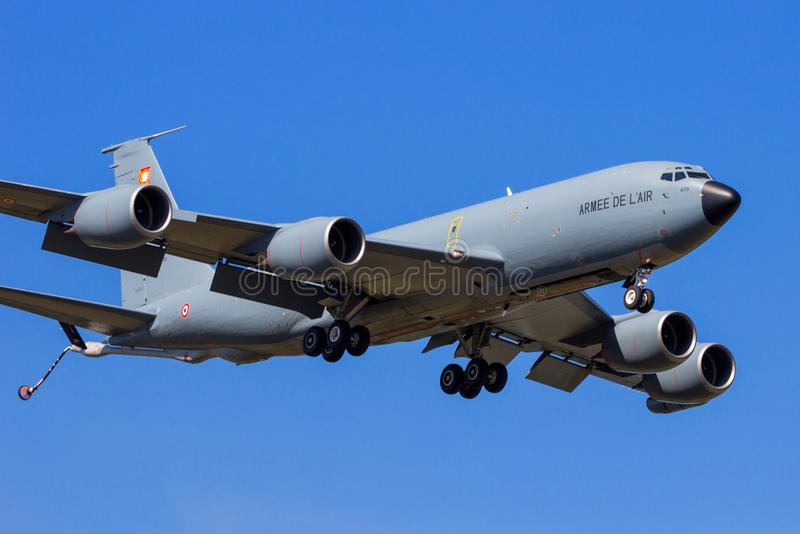 法国空军波音C-135军用罐车飞机 库存照片