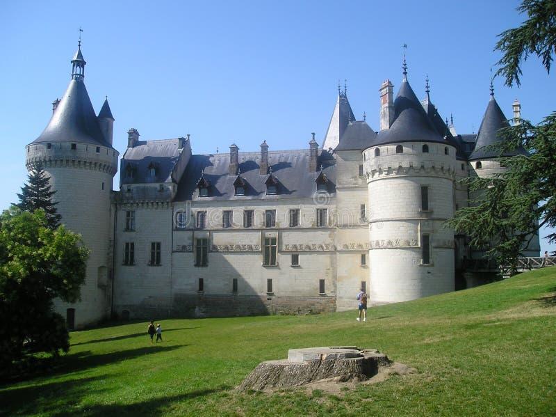 法国肖蒙苏尔卢瓦尔河城堡 免版税库存照片