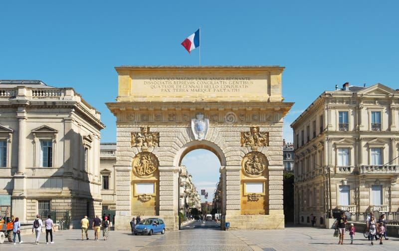 法国蒙彼利埃的佩鲁门 免版税库存照片