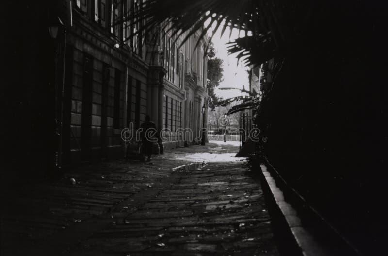 法国街区奥秘隧道 库存照片