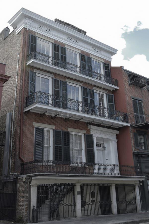 法国街区建筑学在新奥尔良,路易斯安那 库存图片