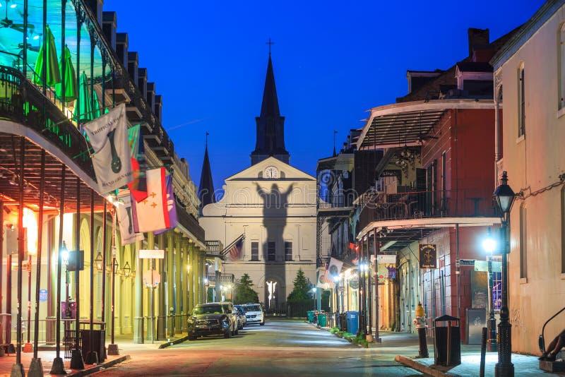 法国街区的圣路易斯大教堂,新奥尔良, Louisian 免版税图库摄影