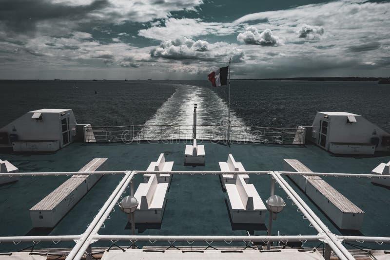 法国轮渡在英吉利海峡 库存照片