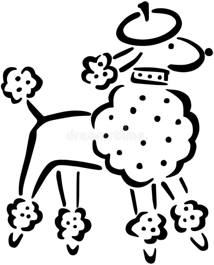 法国长卷毛狗 向量例证