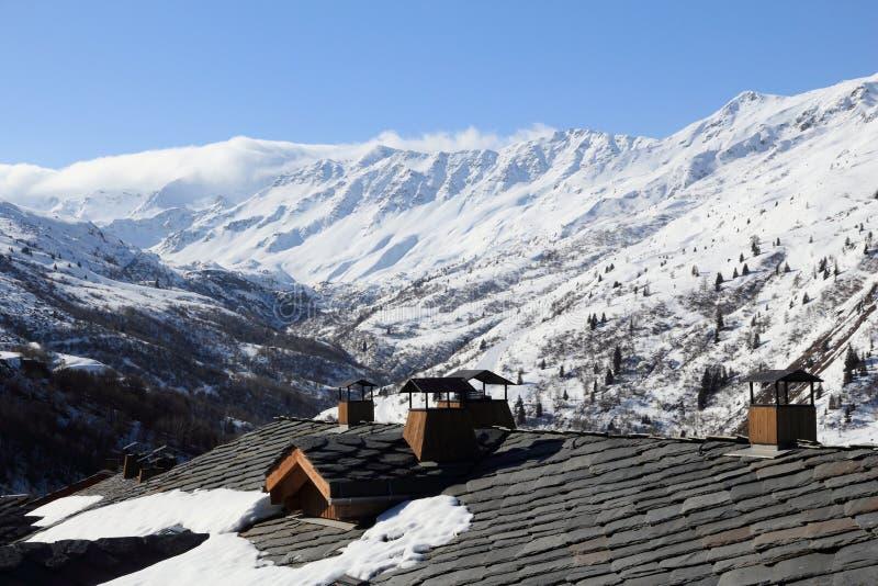法国阿尔卑斯横向 库存照片
