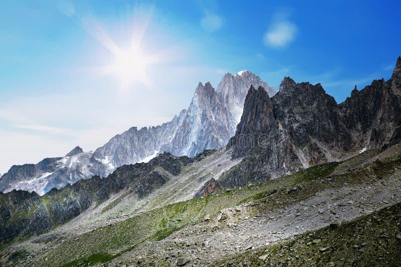法国阿尔卑斯风景 图库摄影