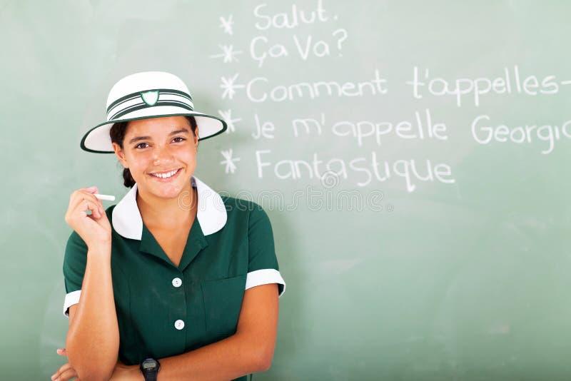 法国青少年的女孩 库存照片