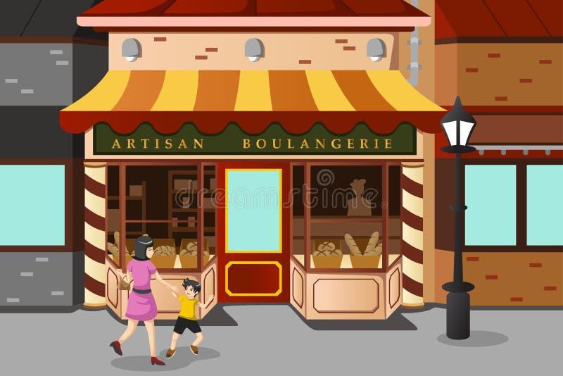法国面包店商店 皇族释放例证