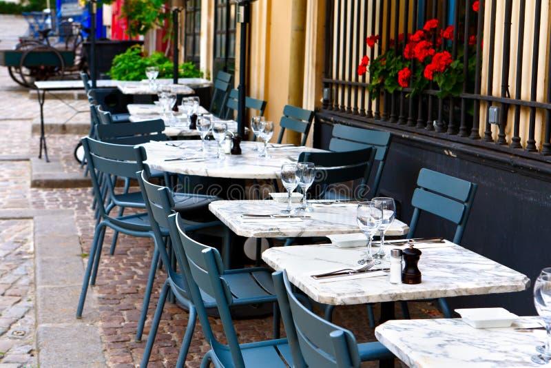 法国餐馆 免版税库存照片