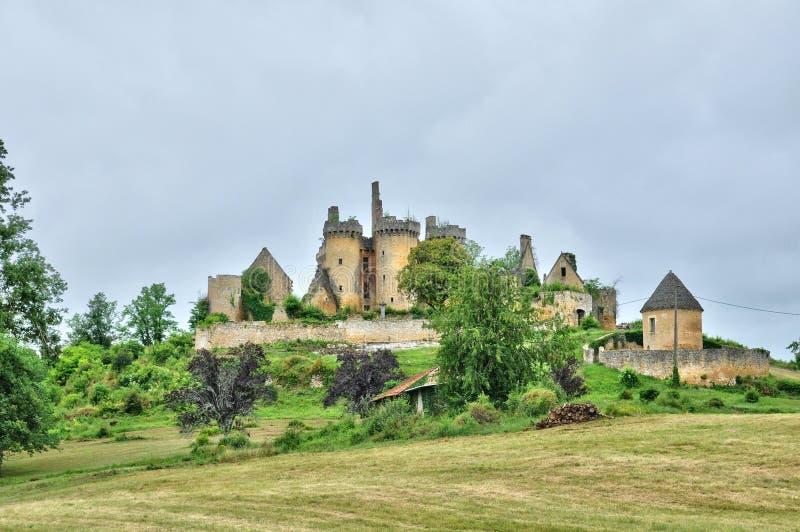 法国,圣文森le Paluel美丽如画的城堡  免版税库存照片