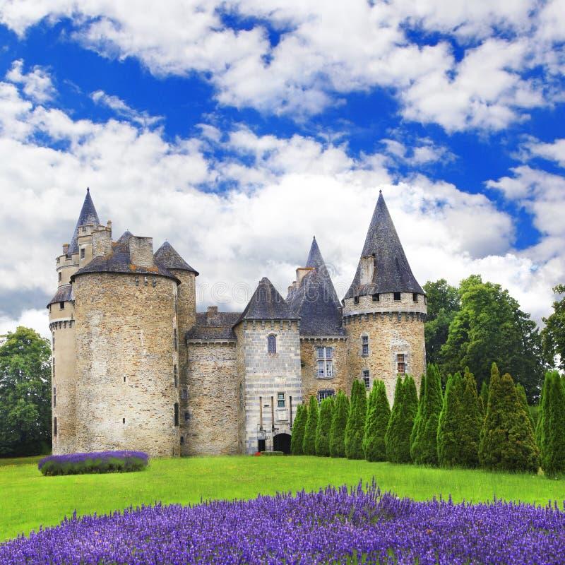 法国,多尔多涅省的城堡地区 免版税库存图片