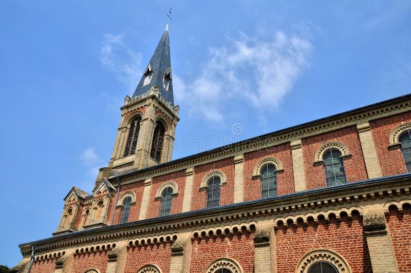 法国,多维尔历史教会在Normandie 免版税库存图片