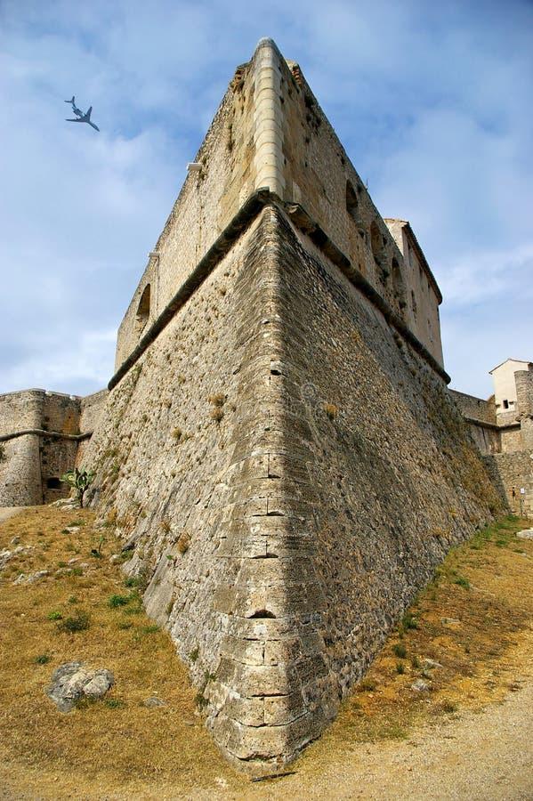 法国,安地比斯:堡垒Carre 库存照片