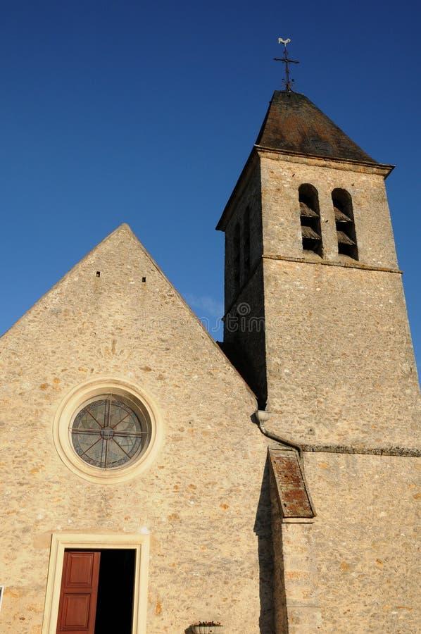 法国,教会圣徒Eloi在列斯Menuls 免版税库存图片