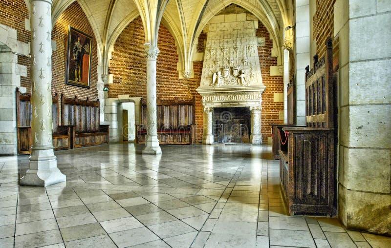法国,昂布瓦斯城堡的老理事会屋子 库存图片