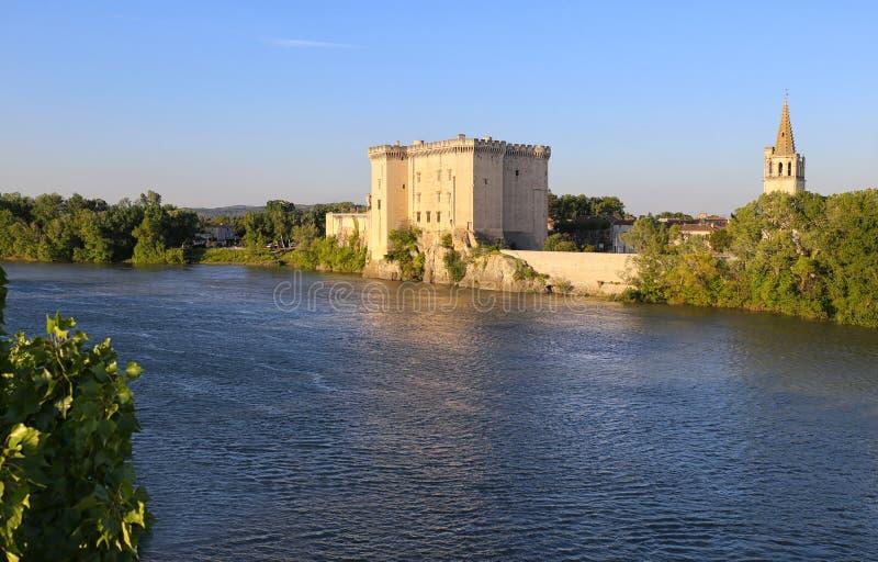 法国,普罗旺斯的城堡:Tarascon城堡 免版税库存照片