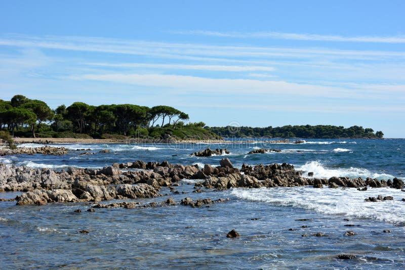 法国,法国海滨,戛纳,Sainte延命菊海岛 库存照片