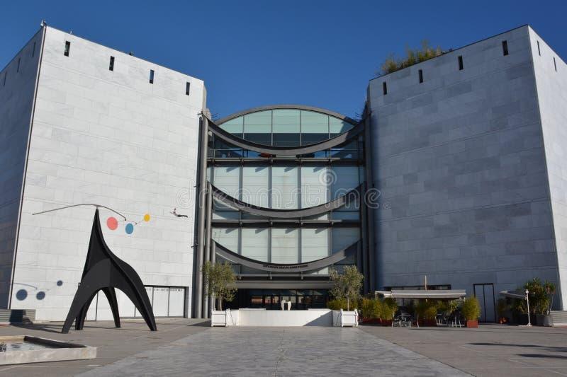 法国,法国海滨,尼斯城市,现代艺术博物馆  库存图片