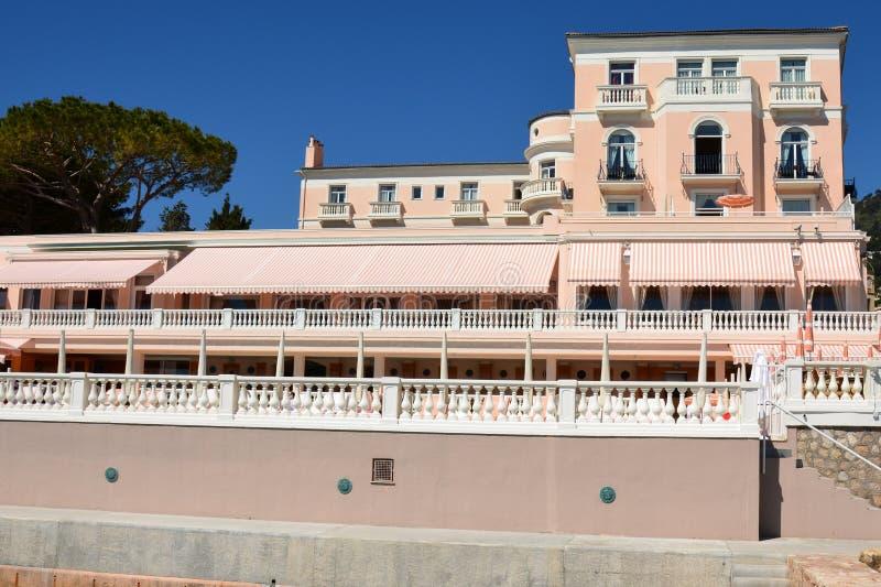 法国,法国海滨,比尤利苏尔梅尔,旅馆la储备 免版税图库摄影