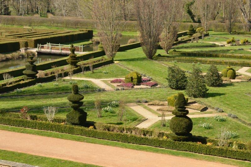 法国, Cormatin美丽如画的城堡在赛隆和卢瓦尔河 免版税库存照片