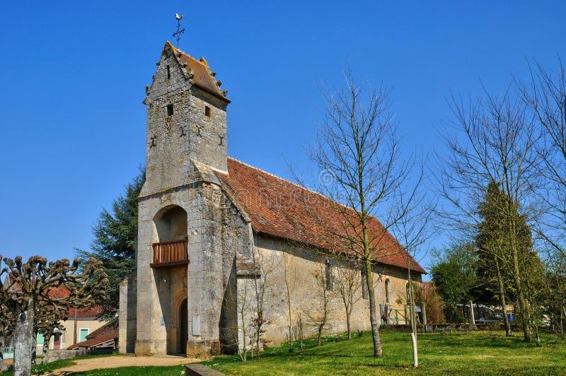 法国, Gemage历史教会在Normandie 库存照片