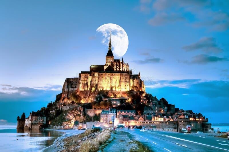 法国,Mont圣米歇尔 库存照片