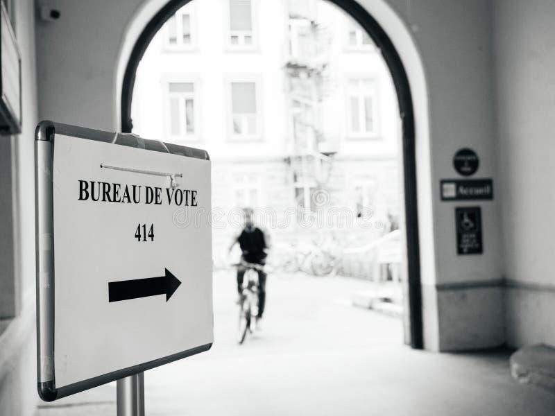 法国;竞选;竞选;候选人;候选人;公民;演示 免版税库存照片