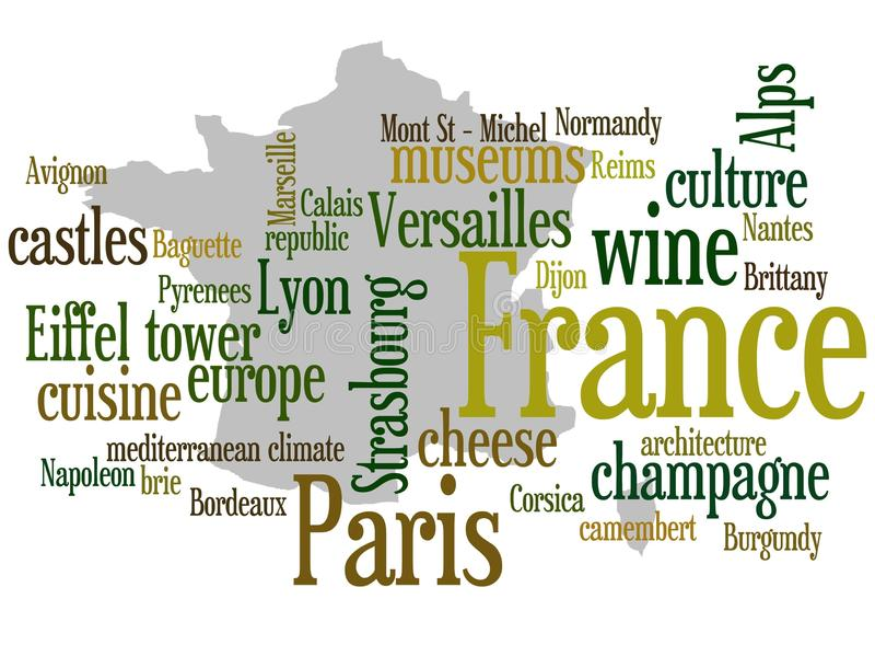 法国 向量例证