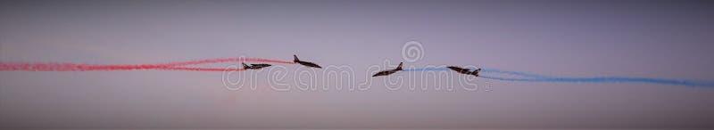 法国` s在行动的阿尔法喷气机巡逻 图库摄影