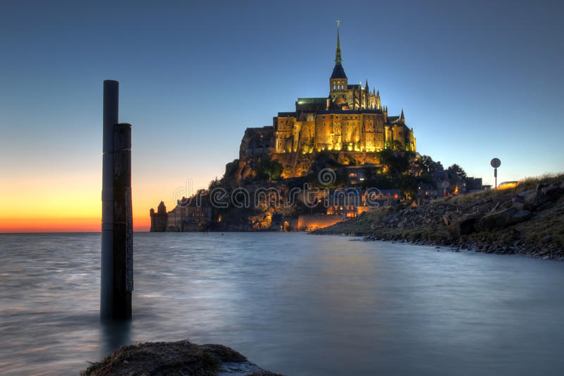 法国michel mont诺曼底圣徒 免版税库存照片