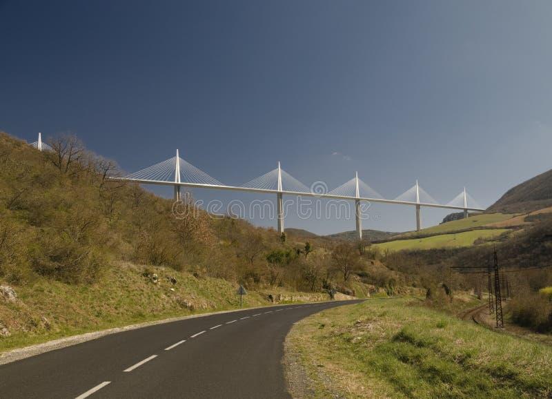 法国millau高架桥 免版税库存照片