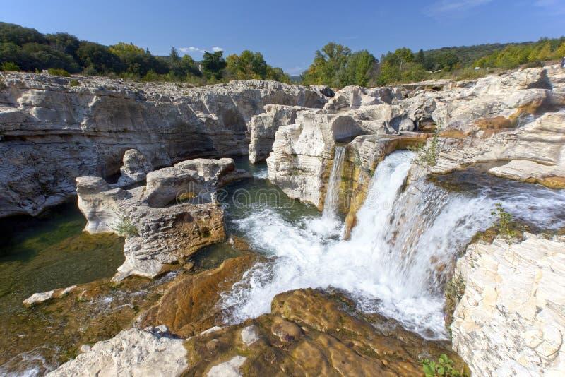 法国sautadet南部的瀑布 图库摄影