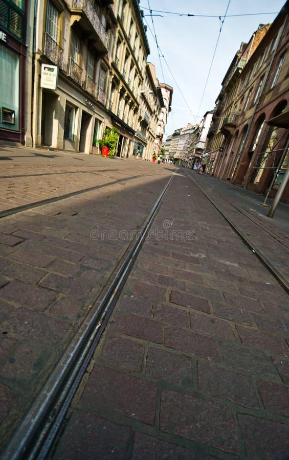 法国Strasborg都市建筑学在夏天 免版税库存图片