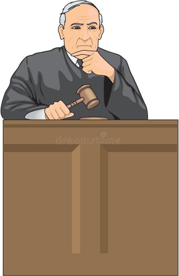 法官传染媒介例证 库存例证
