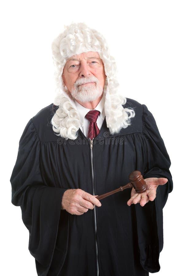 法官佩带的假发 库存图片