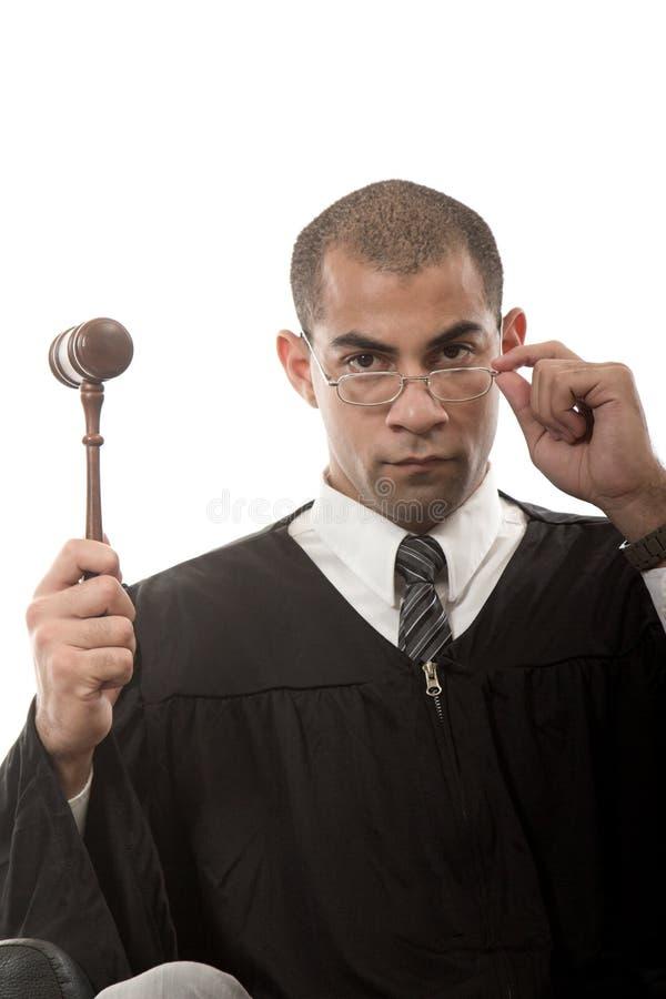 法官和惊堂木 库存照片