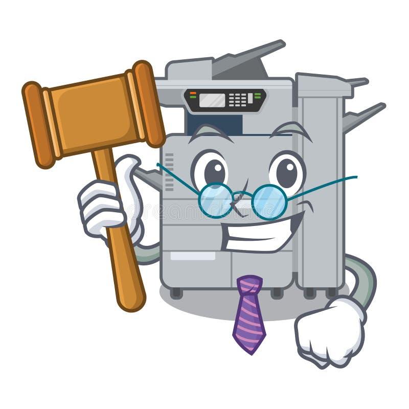 法官在字符椅子旁边的影印机机器 皇族释放例证